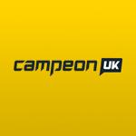 campeon uk casino logo yellow and black